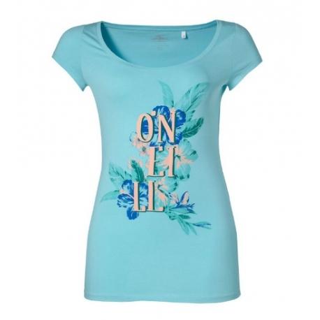 T-SHIRT damski O'neill LW MARLY S/SLV TEE Aruba Blue